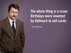 Birthdays | Ron Swanson