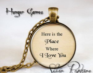 Katniss Quote pendant, Hunger Games necklace Glass pendant, Quote ...