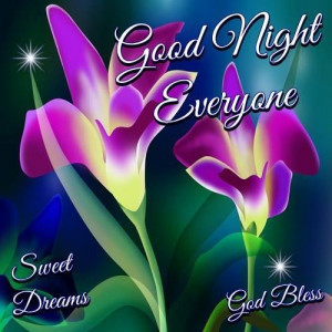 good night everyone