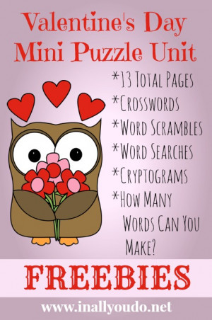 ... any of my other Valentine's Day resources for even more themed fun