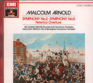 Arnold And Groves CD Album Malcolm Arnold Symphony No 2 5 New