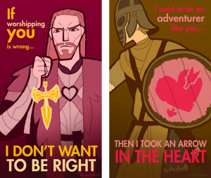 Cartões Skyrim – Valentine's Day