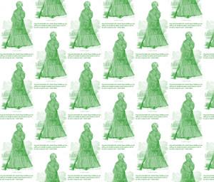 Harriet Tubman Quote-Green 001 fabric by kkitwana on Spoonflower ...