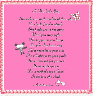 Never Make Her Cry For A Mother's Joy at Heart In The Love Of A ...