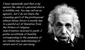 Albert Einstein on the idea of a personal god