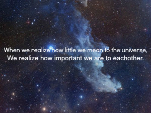... image include: important to each other, little, love, quote and stars
