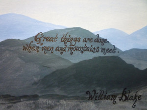 Works By Barbara › Portfolio › William Blake Quote Over Acrylic