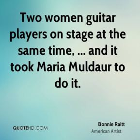 Bonnie Raitt - Two women guitar players on stage at the same time ...