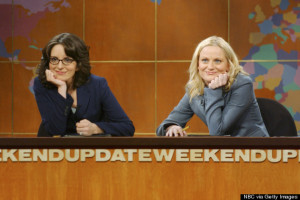 Tina Fey and Amy Poehler on Saturday Night Live: Weekend Update