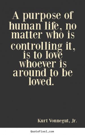 Kurt Vonnegut, Jr. Love Quote Wall Art