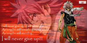 Fairy Tail Quotes Wendy Natsu's quote~fairy tail by