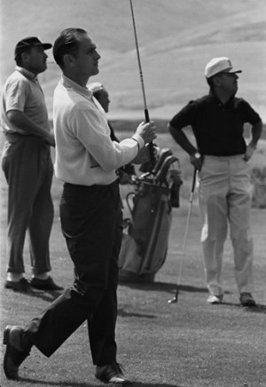 Bob Newhart golfing with Tennessee Ernie Ford