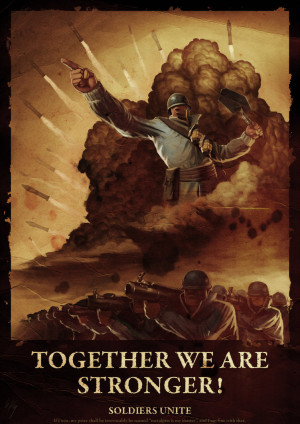 Team Fortress 2 -Soldier propaganda