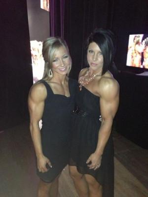 Big muscle & a little black dress