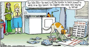funny-dog-picture-canine-writing-bark-smart-animals-humor-pic