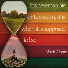 ... Mitch Albom, from his best-selling book,