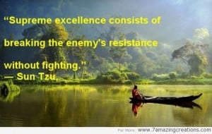 enemy s resistance without fighting sun tzu success quote