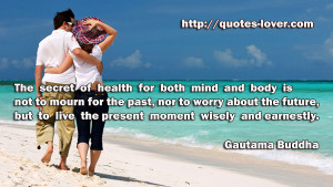 healthy mind is very important, a healthy body as well .