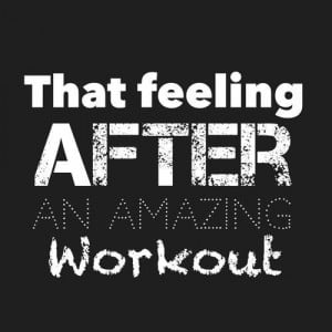 That feeling after an amazing workout