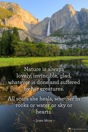 Nature is always lovely, invincible, glad, whatever is done and ...