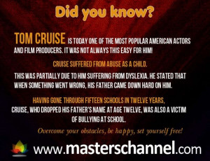 Tom Cruise Dyslexia Quotes From Famous People About