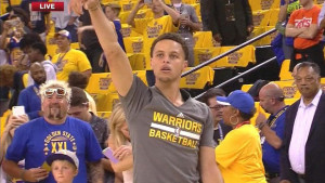 ... , But You'll Never be Guy Fieri Watching Steph Curry Warm Up Happy