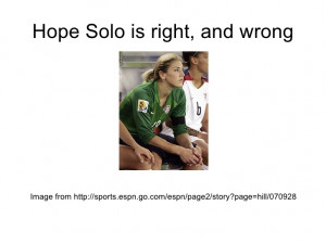 soccer quotes hope solo see hope solos twitter feed soccer quotes hope ...