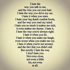 10 things i hate about you | via Tumblr on We Heart It .
