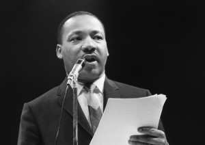 leader Martin Luther King Jr. delivered the famous