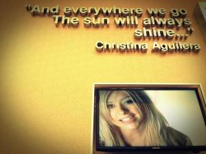 Christina aguilera quotes sayings positive sun shine