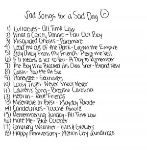 sad music paramore all time low a day to remember pierce the veil fall ...