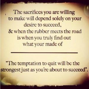 Sacrifice & Success