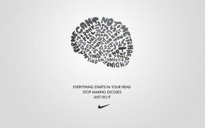 ... Typography White And Gray Nike Sports Slogan Just Do It Wallpaper