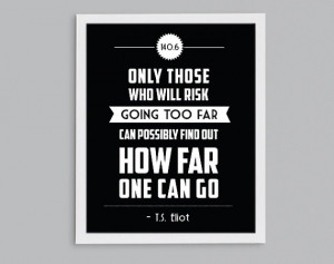 ... Triathlon T.S. Eliot Retro Print - Inspirational Exercise Quote