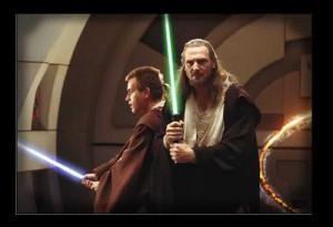 Star Wars Prequels Master Qui-Gon Jinn & Padawan Obi-Wan Kenobi