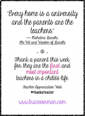 And let's not forget to thank parents this week, because they are so