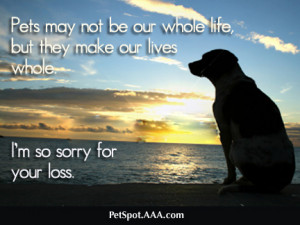 Sympathy Dog Loss Quotes For your loss dog sympathy