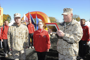 The 35th commandant of the Marine Corps, General James F. Amos, and ...