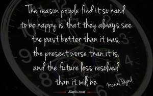 So hard to be happy   Quotes on Slapix.com