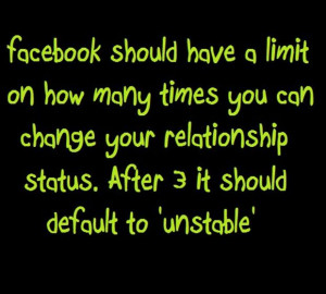 facebook relationship status, funny quotes
