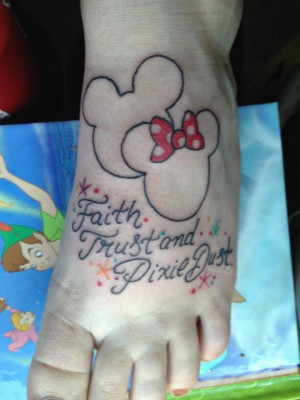 ... to hip on the mickey and minnie but love ... | quotes for a tatto