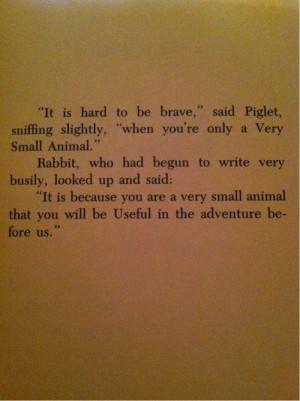 The Te Of Piglet Quotes | te of piglet | Tumblr