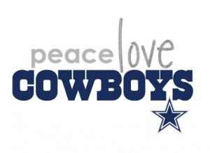 Peace Love Dallas Cowboys