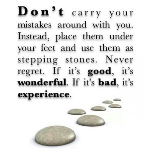 Don't carry ur mistakes!