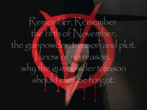 for Vendetta Remember, Remember