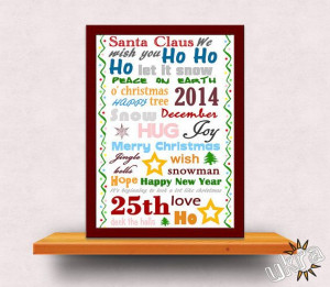 CHRISTMAS Quotes Printable Christmas Wall Art INSTANT by ukra, $5.00