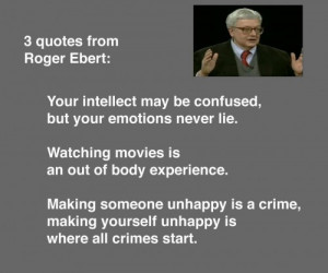 quotes from Roger Ebert -thefilmbook