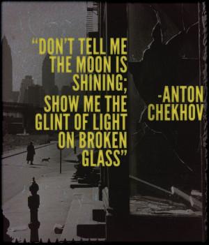 Anton Chekhov on writing