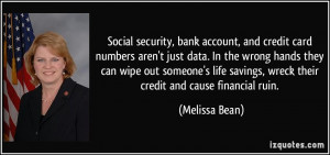 Social security, bank account, and credit card numbers aren't just ...