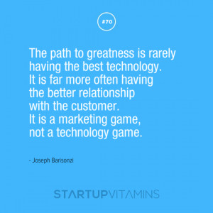 The path to greatness is rarely having the best technology. It is far ...
